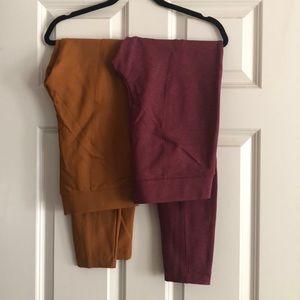 Set of Old Navy Stevie Ponte Knit Pants NWOT